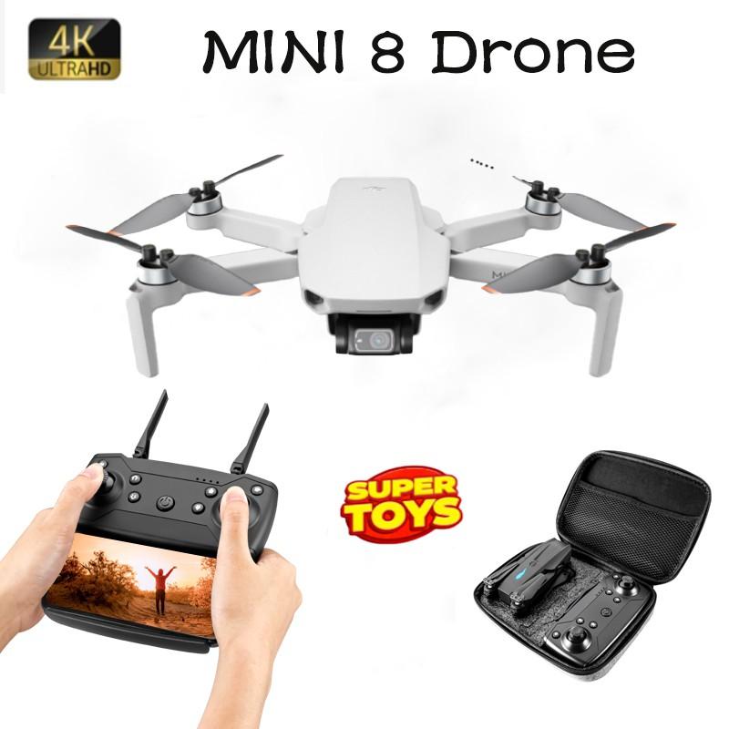 โดรน Mini 8 Drone กล้อง2ตัว Wifi โดรนราคาถูก ขนาดเล็กพกพาง่าย โดรนไซส์พกพา โดรนบังคับ ถ่ายวีดีโอ กล้องชัด โดรนไร้สาย.