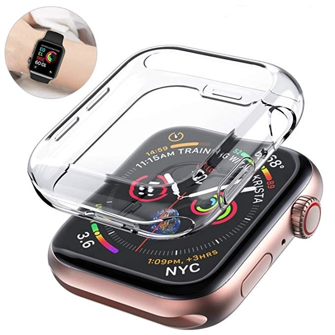 Apple Watch ฟิล์ม 360 Full Cover เคสกันรอยหน้าจอ 38 42 44 40MM iwatch Series 5 4 3 Clear Soft Case