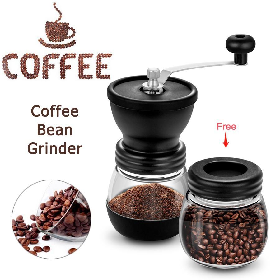 MOMO เครื่องบดเมล็ดกาแฟ เครื่องบดเมล็ดกาแฟมือหมุน เครื่องบดกาแฟด้วยมือแบบพกพา เครื่องทำกาแฟ