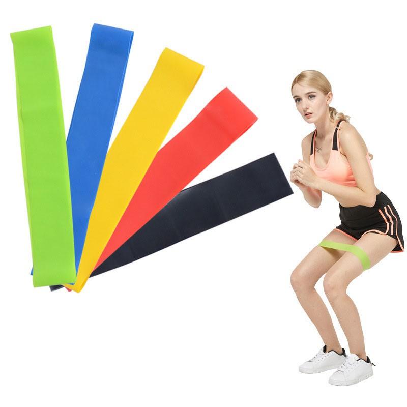 ยางยืดออกกำลังกาย ยางยืดวงแหวน บริหารร่างกาย แรงต้านขนาดต่างๆ  ห่วงยางยืดสำหรับออกกำลังกายโยค ลดราคา