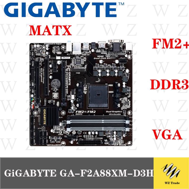 เมนบอร์ด Fm2 + A88X สําหรับ Gigabyte Ga - F2A88Xm - D3H
