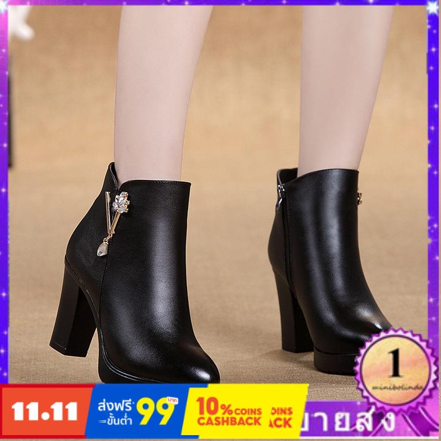 ⭐👠รองเท้าส้นสูง หัวแหลม ส้นเข็ม ใส่สบาย New Fshion รองเท้าคัชชูหัวแหลม  รองเท้าแฟชั่นหนังรองเท้าเดียวรองเท้าผู้หญิงรองเท