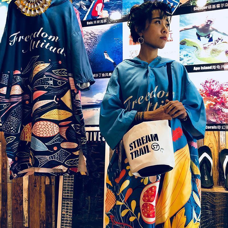 【กีฬากลางแจ้ง】Japan Streamtrailanemone กระเป๋าใบเล็กแนวทแยงกันน้ำไหล่เดียวกระเป๋ากันน้ำทุกการเดินทางสไตล์ตะวันตก