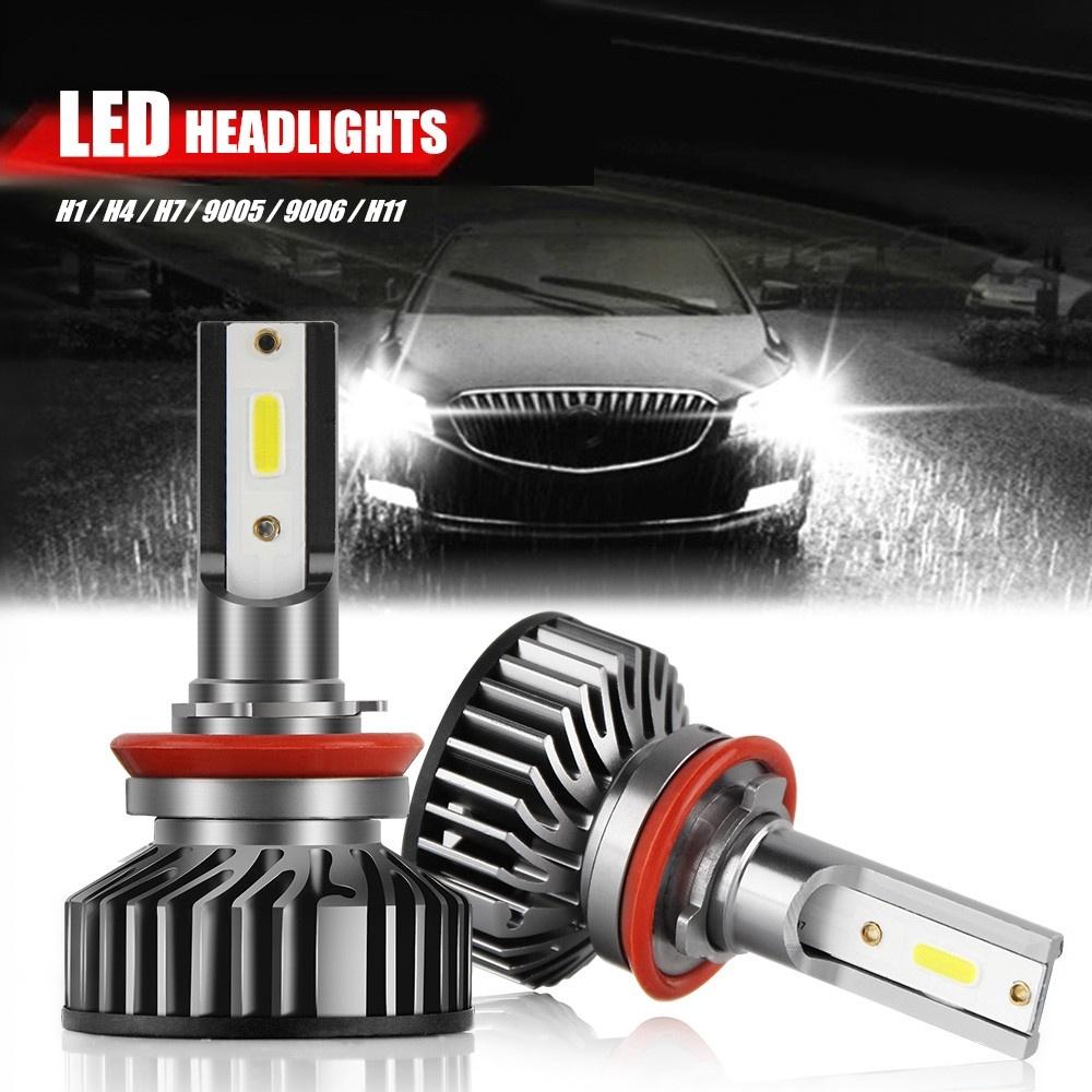 2x New H1 LED Headlight Conversion Kit 72W 8000LM Hi Lo Beam Bulbs White 6000K