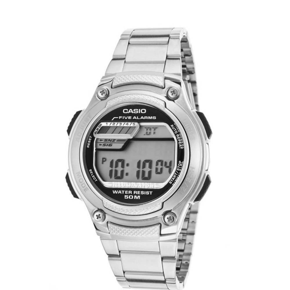 Casio Standard Digital นาฬิกาข้อมือ สายสแตนเลส รุ่น W-212HD-1AVDF - Silver