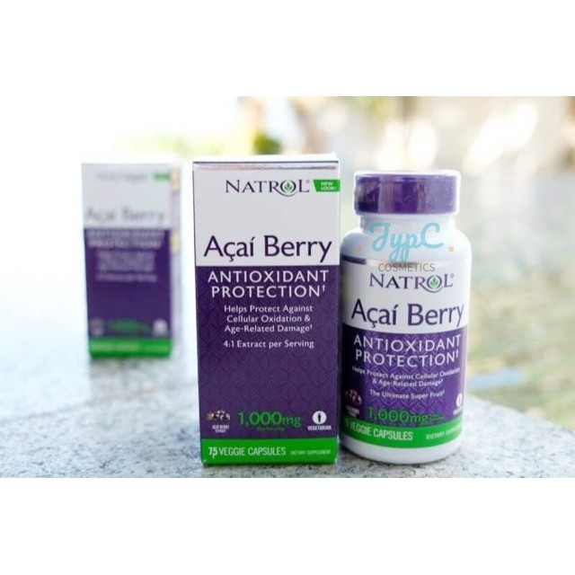 [✓พร้อมส่ง✓ใหม่ EXP 12/2019] 🇺🇸USA Natrol, AcaiBerry Diet, Acai & Green Tea Superfoods, 60 Veggie Capsules | Shopee Thailand
