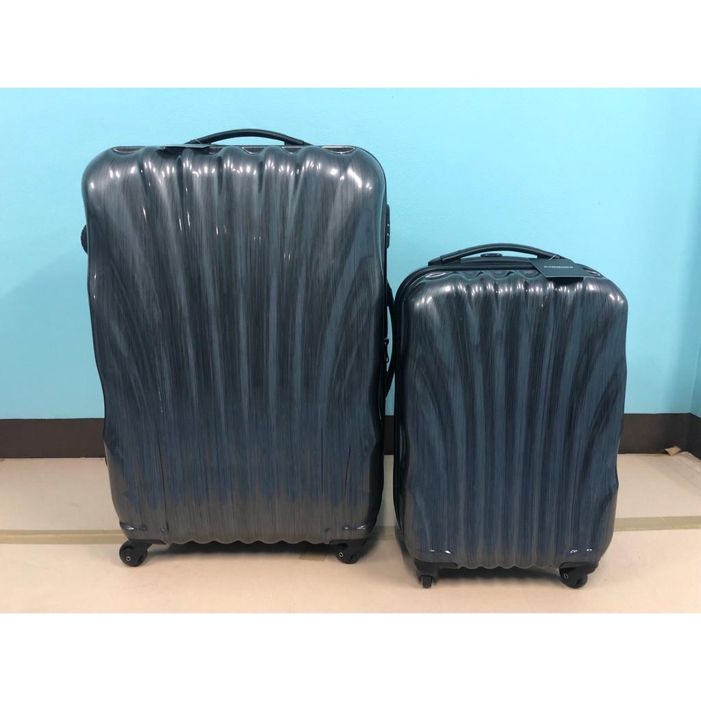 เซตกระเป๋าเดินทาง ใบใหญ่+เล็ก แบบที่ 3 สีดำ เส้นโค้ง