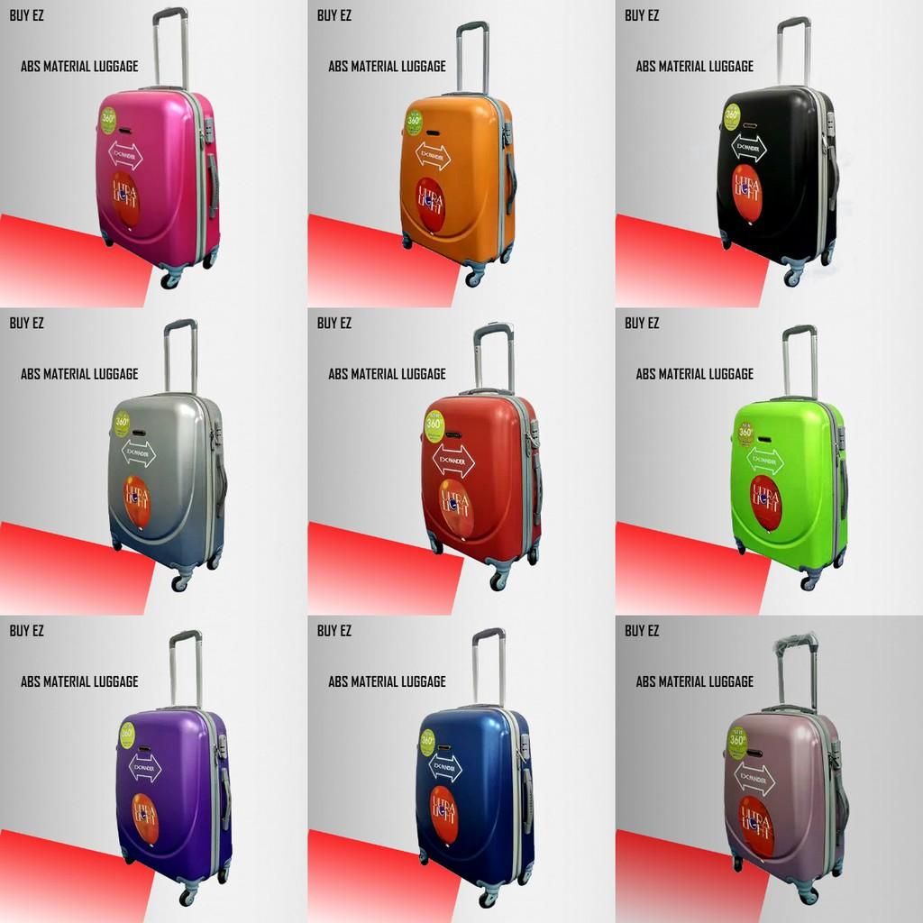 กระเป๋าเดินทางคาร์บอนไฟเบอร์ Abs 24 นิ้ว 4 ล้อหมุนได้ 360 องศา