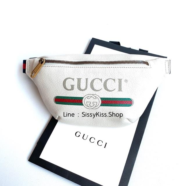 New Gucci Print Belt Bag เล็ก