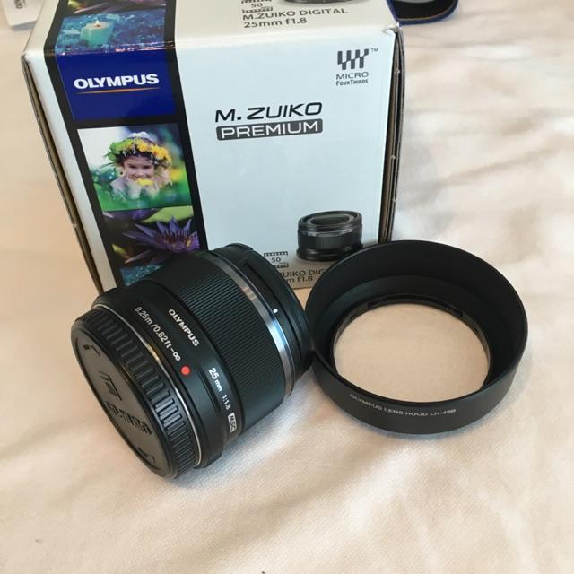เลนส์ olympus 25mm f1.8 หน้าชัดหลังเบลอ สภาพนางฟ้า มีกล่องมีคู่มือ เลนส์ซื้อจากศูนย์ BIG Camera