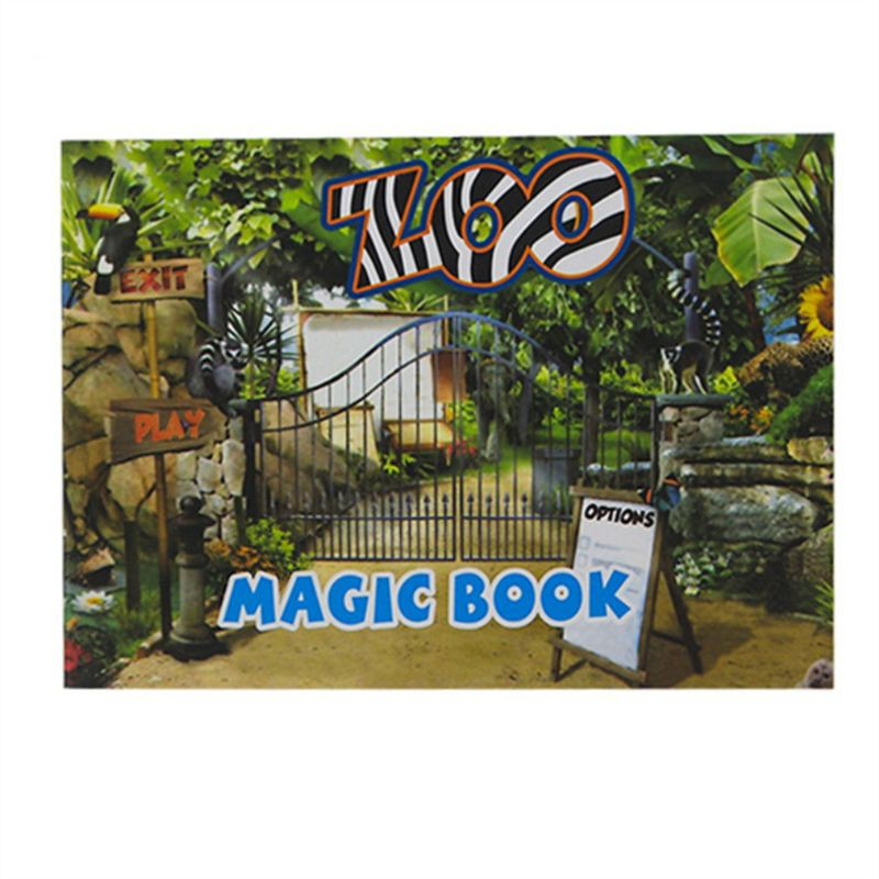WIN.Magic Moving Images Books Animal Pictures Magic Tricks Props Toys Animated Optical Illusions Kids Gifts