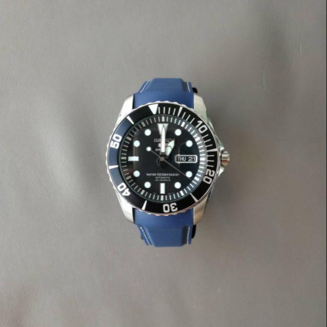 applewatch series 6❉۩โปรโมชั่น สายนาฬิกาโค้ง22mm ซิลิโคน ข้อมือ for  5 ดำน้ำ 100 M รุ่น SNZF15K1 SNZF17K1 และ SNZF22J1 ร