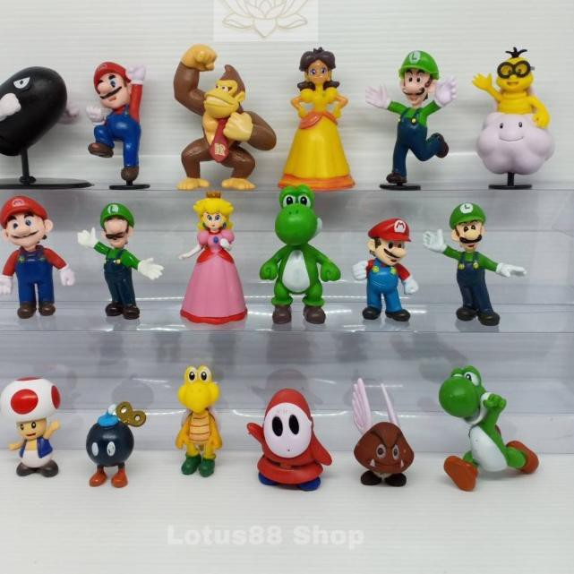 ฟิกเกอร์ Super Mario Bros Figure Of 18 ของเล่นสําหรับเด็ก