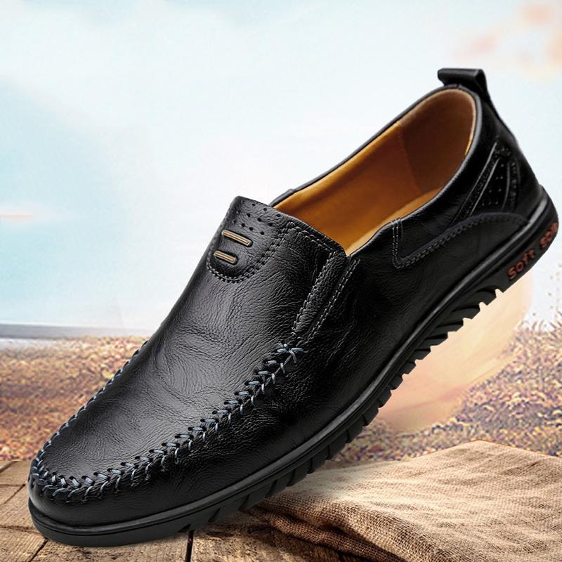 ROYALLOVERS  รองเท้าไม่มีส้นของผู้ชายรองเท้าคัชชูชายรองเท้าหนังชายรองเท้าคัชชู ผช