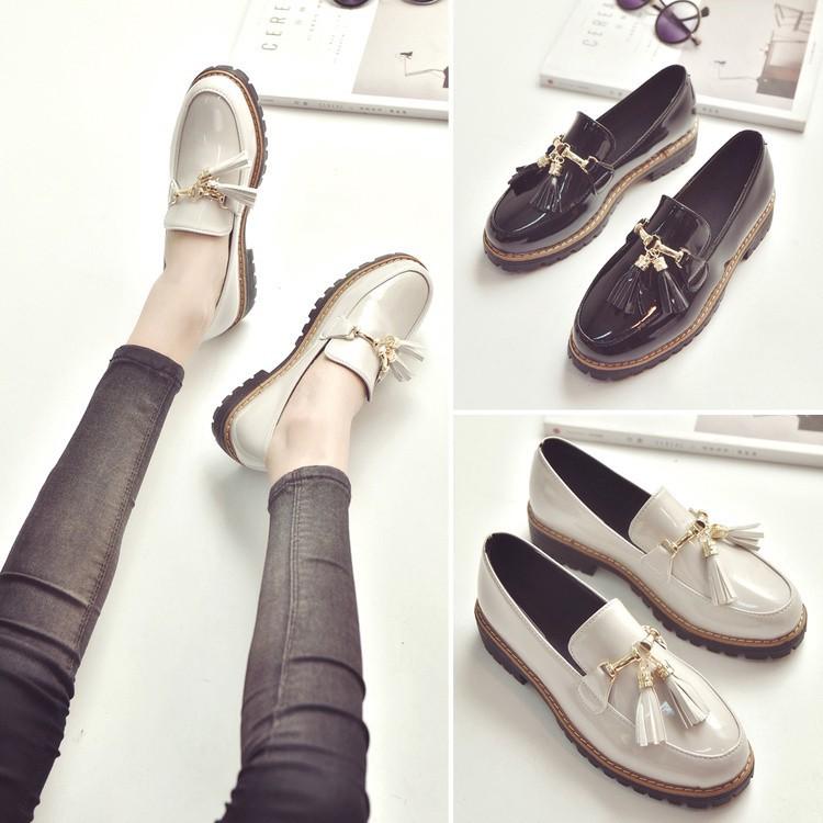 พร้อมส่งรองเท้าผู้หญิง รองเท้าoxford รองเท้าเสริมส้น รองเท้าอ็อกฟอร์ด รองเท้าคัชชูผู้หญิง