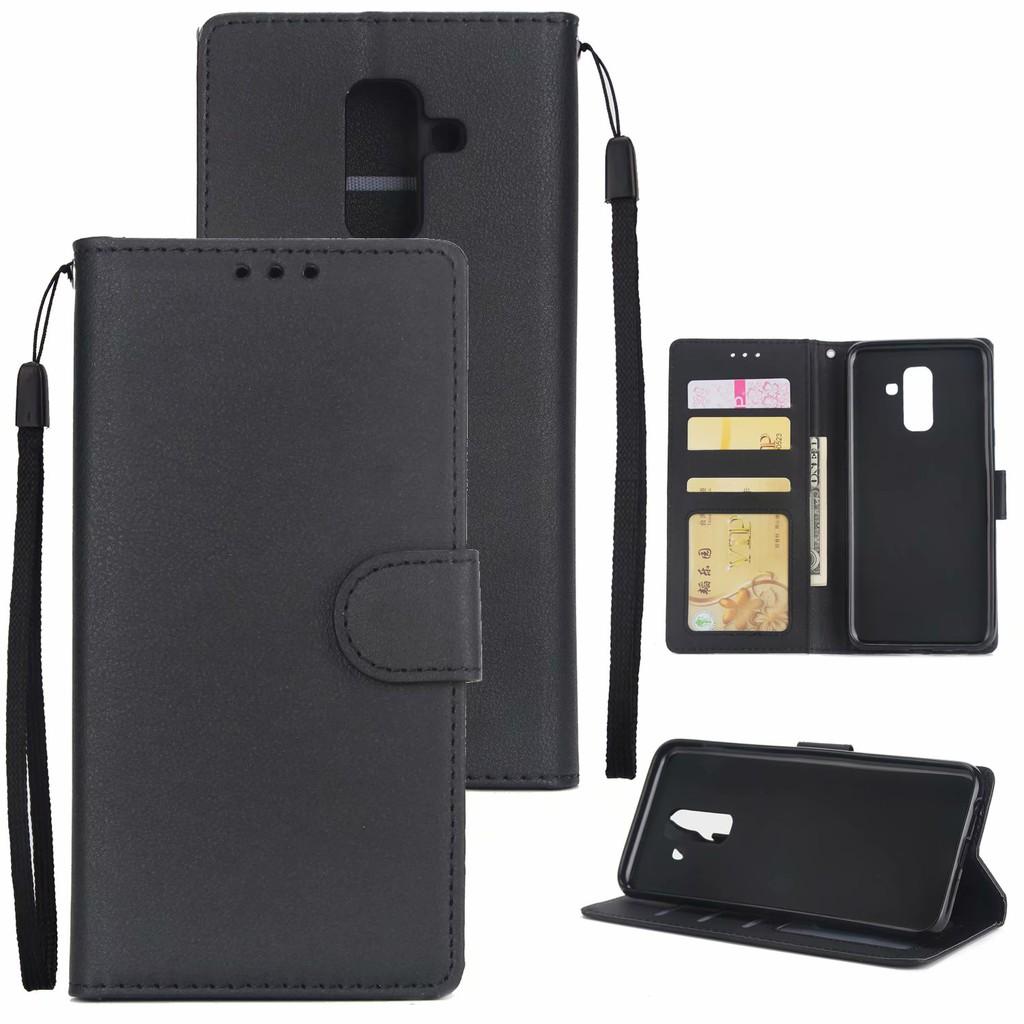 J7 J4 กรณีโทรศัพท์ Plus J6 เคส  Case Case J8 เคสหนัง เคสสำหรับ Leather J2 A6 A9 A7 Galaxy A5 เคสฝาพับ A8 Samsung Pro