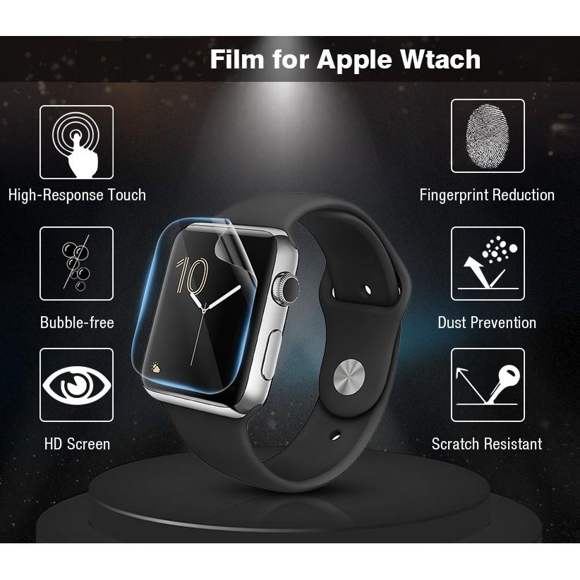 ฟิล์ม เต็มจอ ลงโค้ง โฟกัส ฟิล์ม สำหรับ AppleWatch Sport Series 1 / 2 / 3 / 4 / 5/6 SE Nike s TPU Film Applewatch ฟิล์ม H