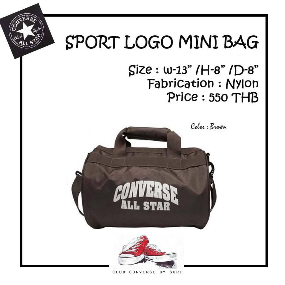 a69d11e506 Converse กระเป๋าถือ Sport Logo Mini Bag น้ำตาล