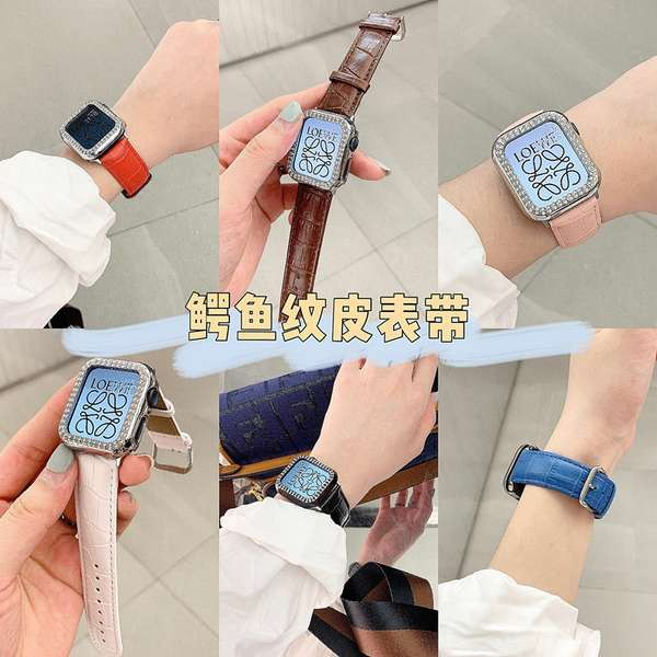 สาย applewatch ลายจระเข้เหมาะสำหรับ iwatch6 Apple watch applewatch5 / 4/3/2/1 รุ่นผู้ชายและผู้หญิงสายหนัง tide se