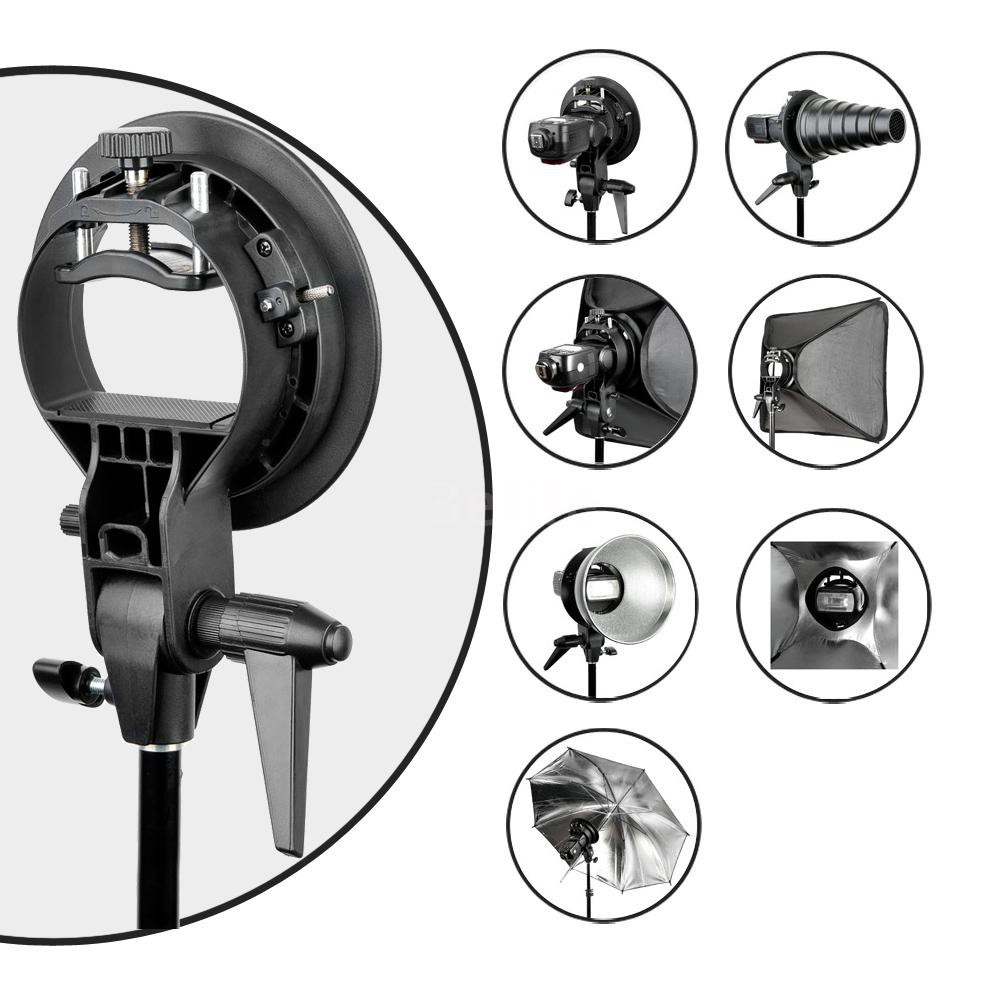Phot-R 40cm Softbox Diffuser Flash Photo Studio 3m Adjustable Light Stand Kit