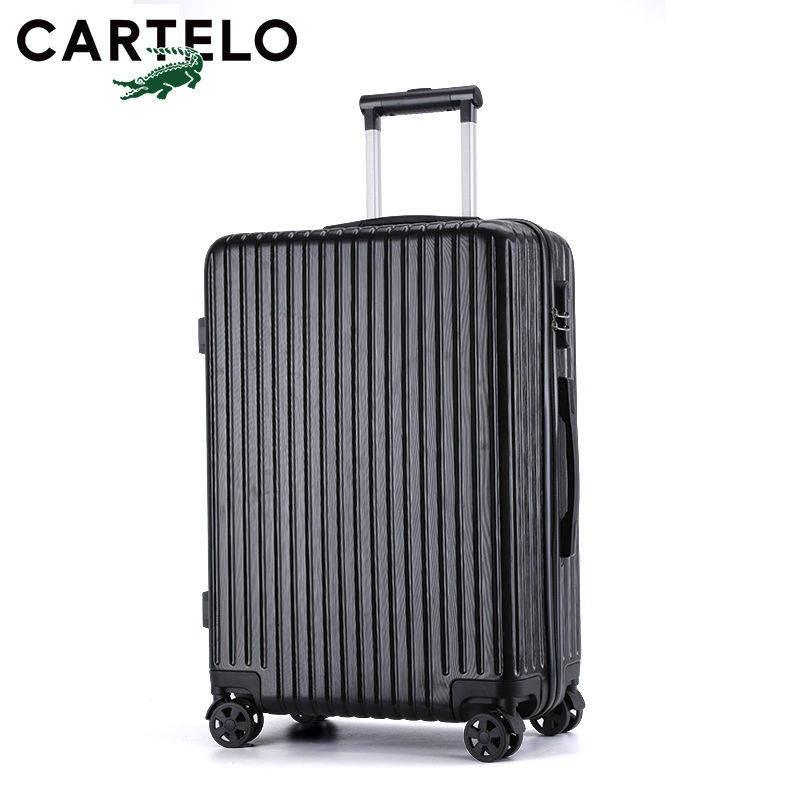 Cardile จระเข้กระเป๋าเดินทางชายรหัสผ่านรถเข็นกระเป๋าเดินทางกระเป๋าเดินทาง 26 นักเรียน 24 กระเป๋าหนัง 20 นิ้ว