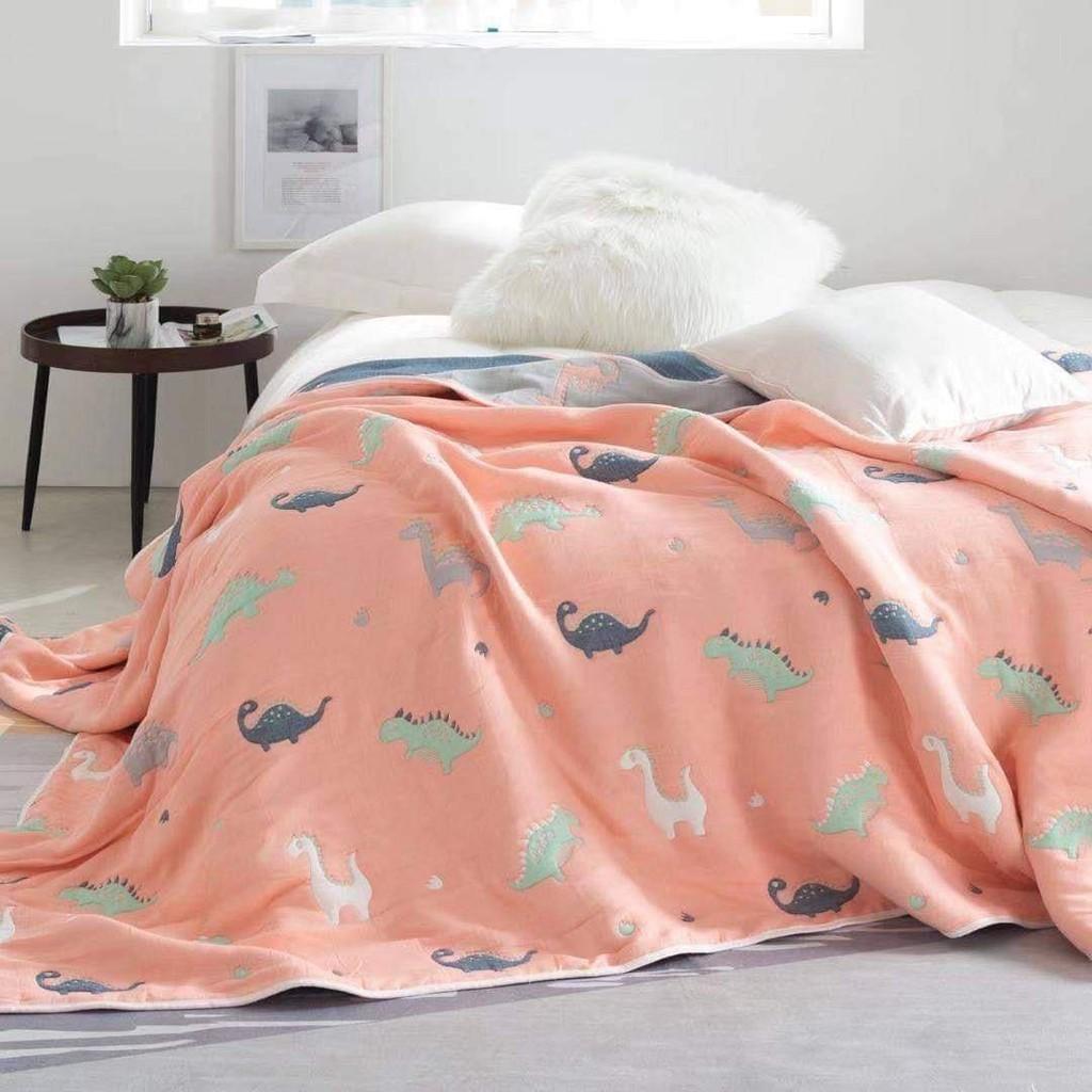 ผ้าห่ม ผ้าห่มสาลู 6 ชั้น ไซส์ 5ฟุต