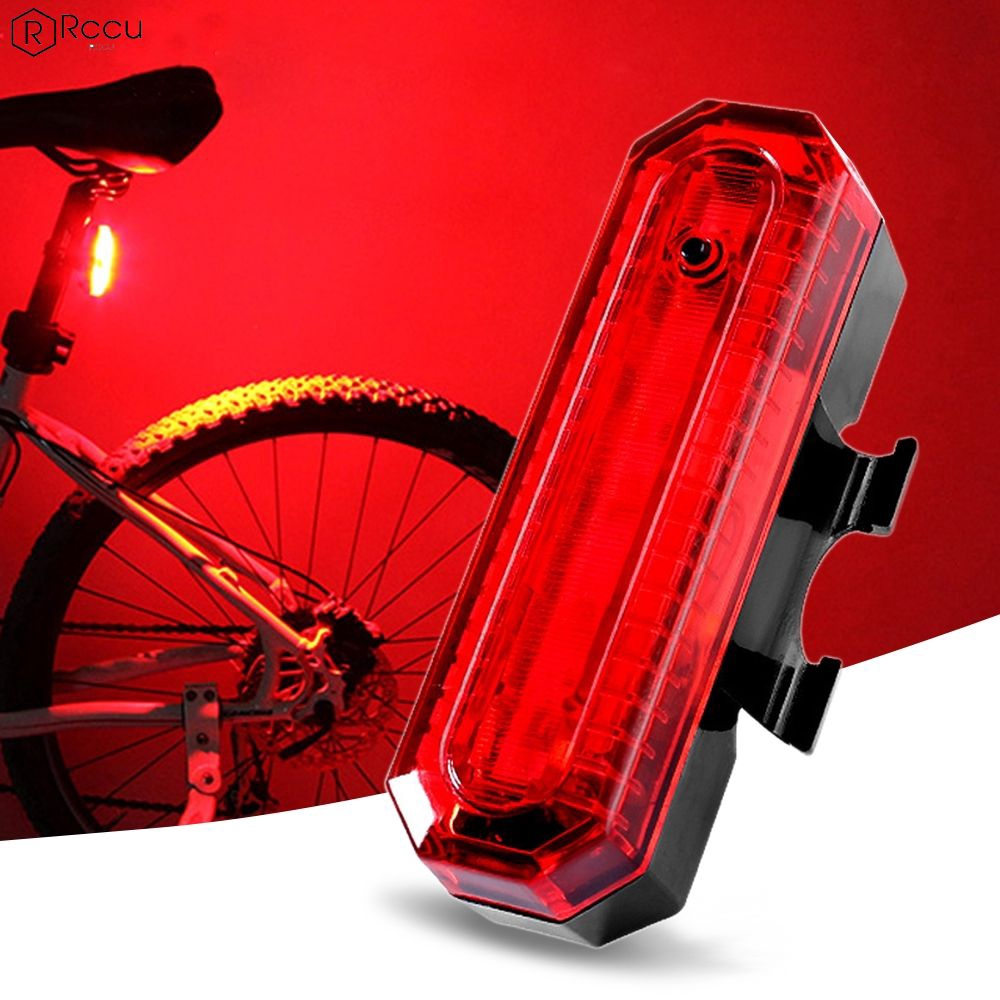 USB Rechargeable LED Tail Light Bicycle Safety Cycling Warning Rear Lamp 1PC