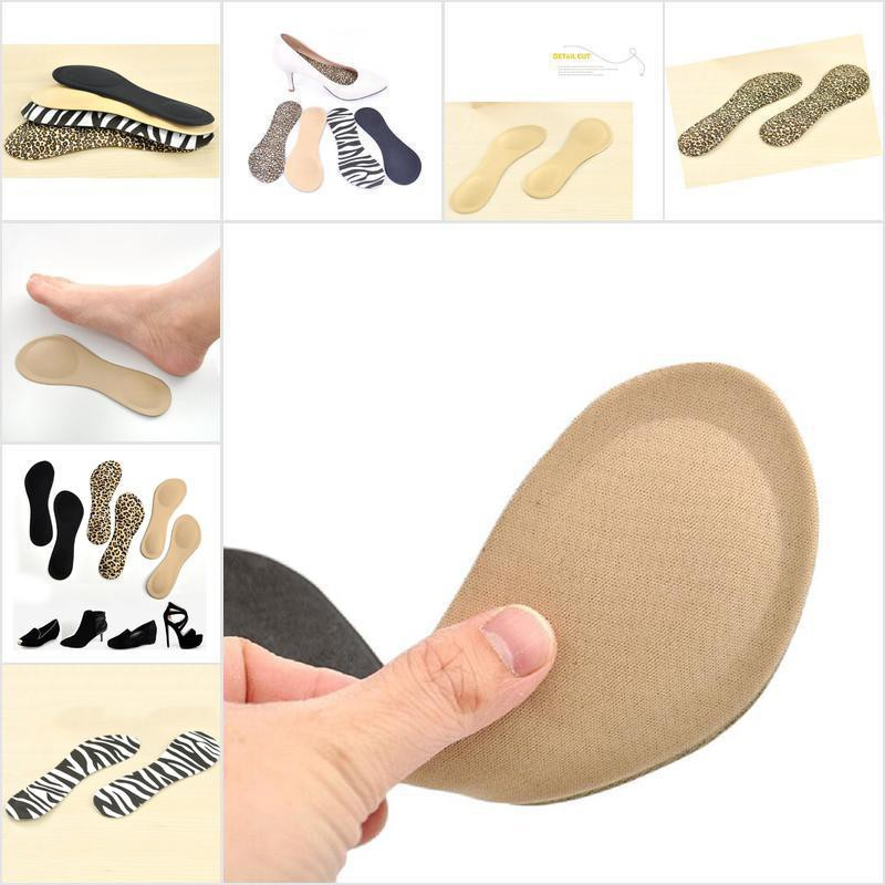 3//4 Sized Adhesive Gel Massage Insoles Support for Shoes Sandals
