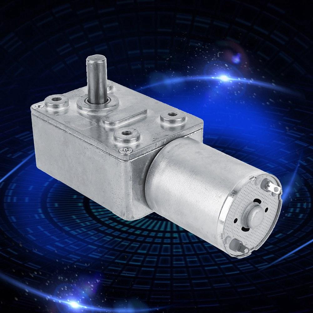 DC 12V Gear Reduction Motor Worm Reversible Torque Turbo Geared Motor 6//62RPM