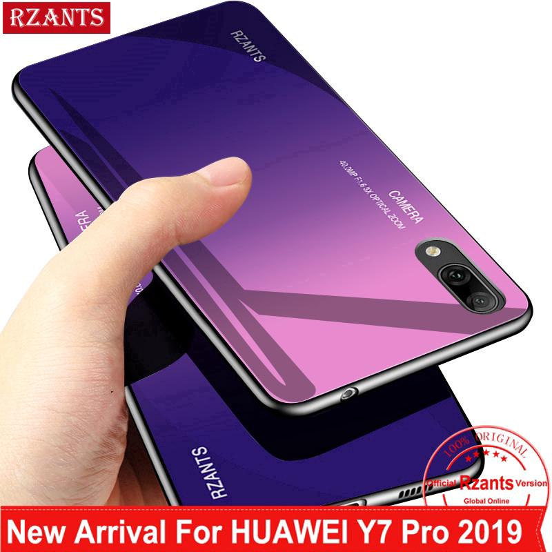 Review For Huawei Y7 Pro 2019 เคส Phone Casing เคสโทรศัพท์【Gradient Glass Back Case】Shockproof Thin Hard Slim เคสมือถือ Cover