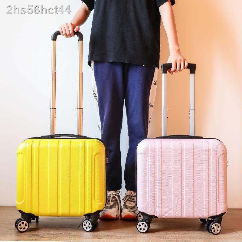 กระเป๋าเดินทางขนาดเล็กสำหรับเด็กผู้ชายกระเป๋าเดินทางน้ำหนักเบา 18 นิ้วพร้อมล้อสากลหญิงมินิ 16 กระเป๋าเดินทางรถเข็นกระเป