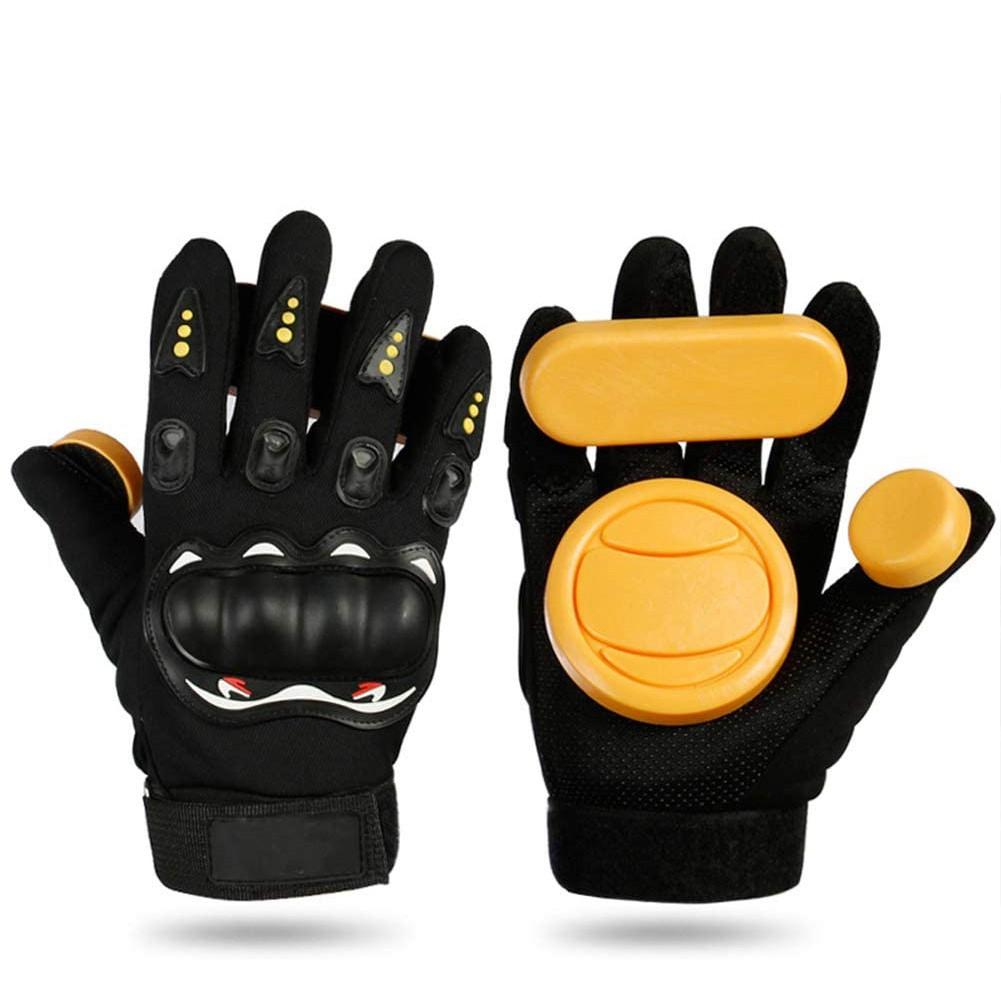 DIY Longboard Slide Gloves Skateboard Gloves Foam Protector Downhill Longboarding Skate Gloves with Slider Puck