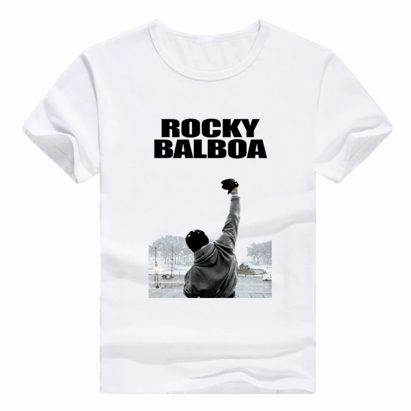 Rocky Balboa T-Shirt New If He Dies He Dies 100/% Black Cotton  in Sizes SM 5XL