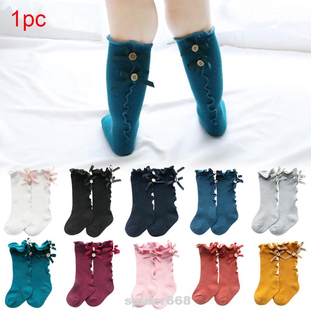 Knee High Cotton Kids Socks Boys Girls Long Tube Soft Socks Tights Leg Warmer