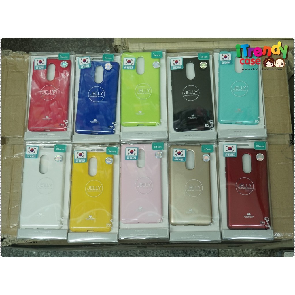 Lenovo K6 Note - เคส TPU Mercury Jelly Case (GOOSPERY) แท้