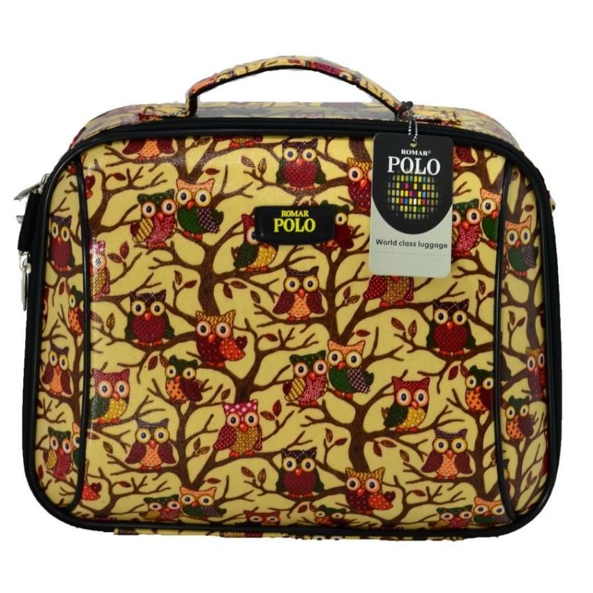 กระเป๋าเดินทาง กระเป๋าเดินทางล้อลาก Romar Polo เบ็ดเตล็ด 14 นิ้ว หน้านูน Code 580-68 L-Bird กระเป๋าล้อลาก กระเป๋าเดินทาง
