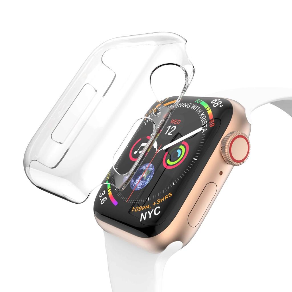 【ตามเรามา฿ 10】เคสคริสตัลเคลียร์ฮาร์ดปก PC Case สำหรับ Apple Watch Series 1 2 3 4 5 6 SE 38mm 42mm 40mm 44mm
