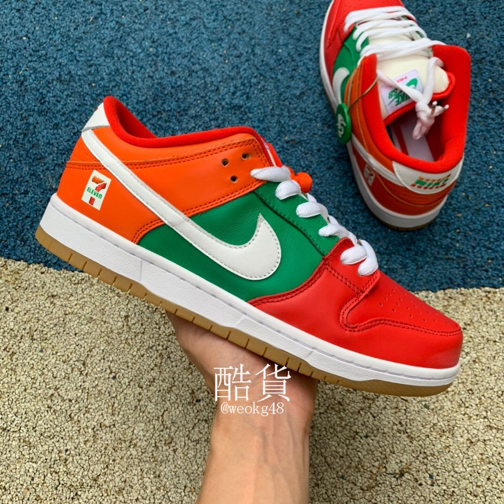 []7-Eleven x Nike SB Dunk Low 7-11 Convenience Store Couple Board Shoes Low CZ5130-600