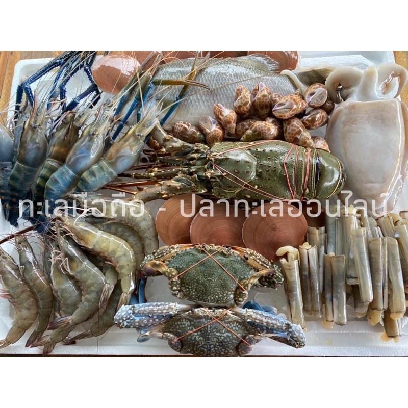กล่องสุ่มอาหารทะเล ตรงปก❤️(กุ้งมังกรแบบไม่ต้องสุ่ม) ในราคา 1,000 บาท