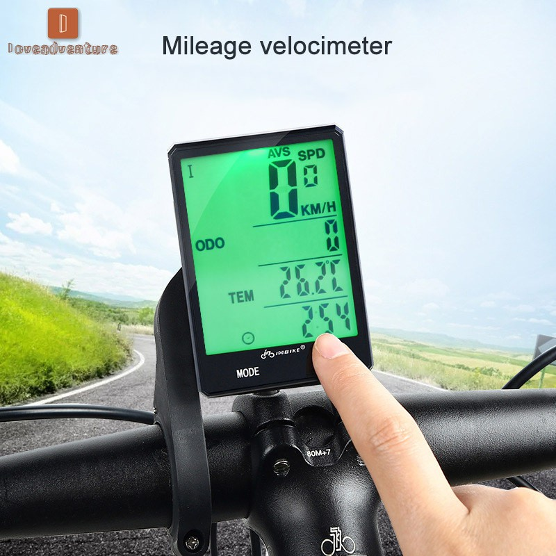 "2.8/""Large Screen Wired Wireless Bike  Cycling LCD Computer Odometer Speedometer"