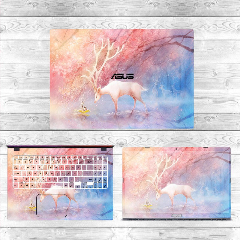 Laptop sticker๑☼▨15.6-inch ASUS GL502VML, X542UQR, FX505G, GL553VD, X512F computer stickers notebook film protective shell keyboard cartoon sticker accessories screen