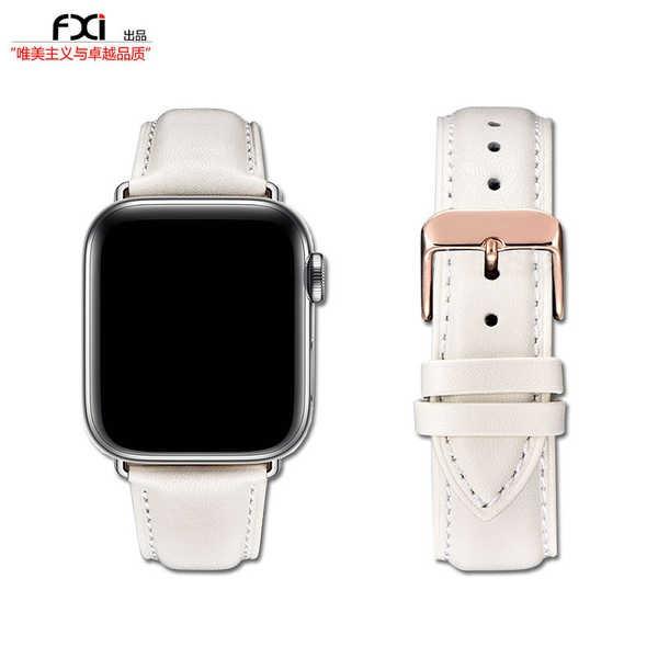 สาย applewatch fxi Off-white เม็ดสีขาวชั้นแรก cowhide สาย apple สาย applewatch น้ำ iwatch5436 สาย apple watch สาย iwatch