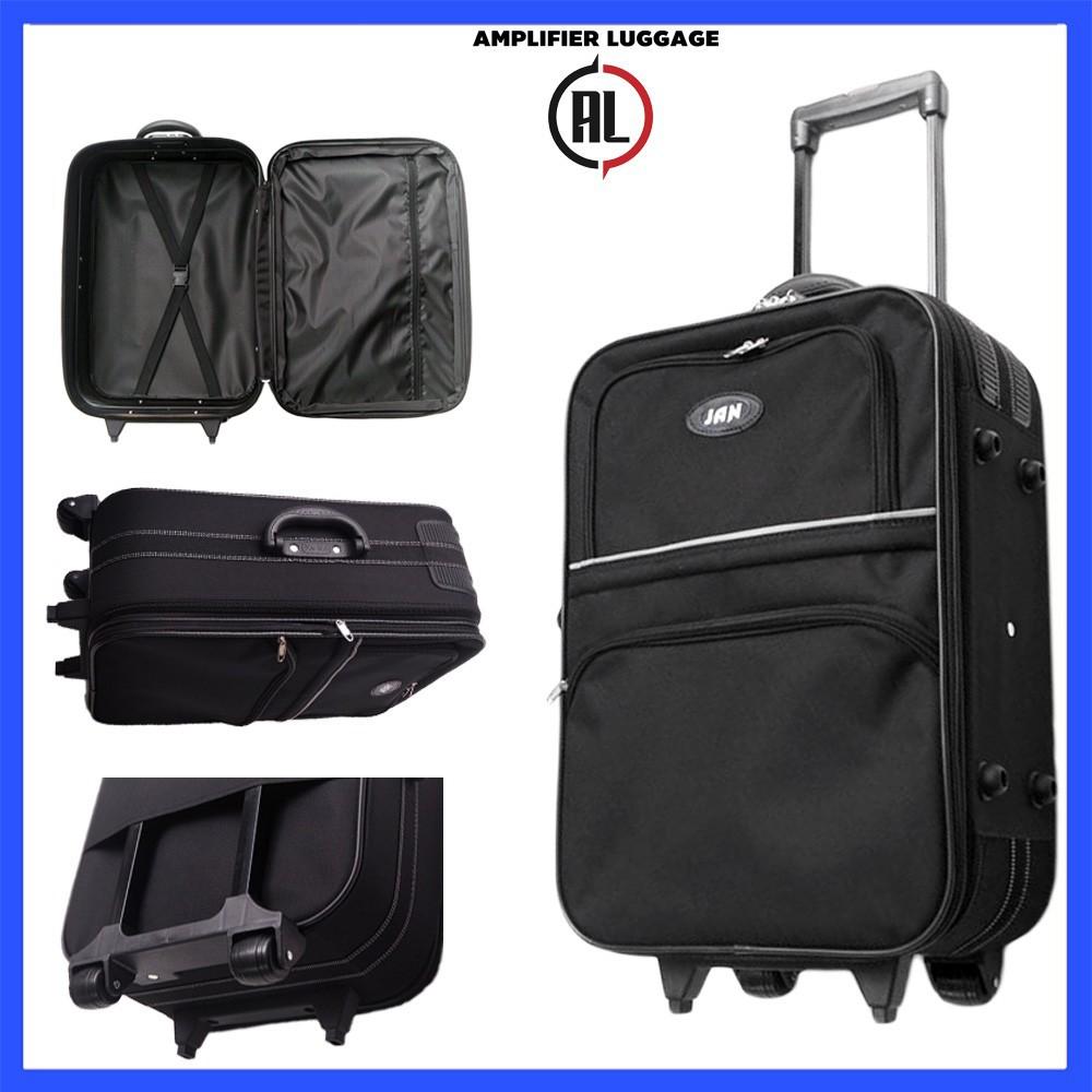 กระเป๋าเดินทาง [ขยายความจุ] กระเป๋าเดินทาง ล้อลาก 2 ล้อ ขนาด 17-30 นิ้ว กระเป๋าล้อลาก กระเป๋าเดินทางล้อลาก แบบผ้า คุณภาพ