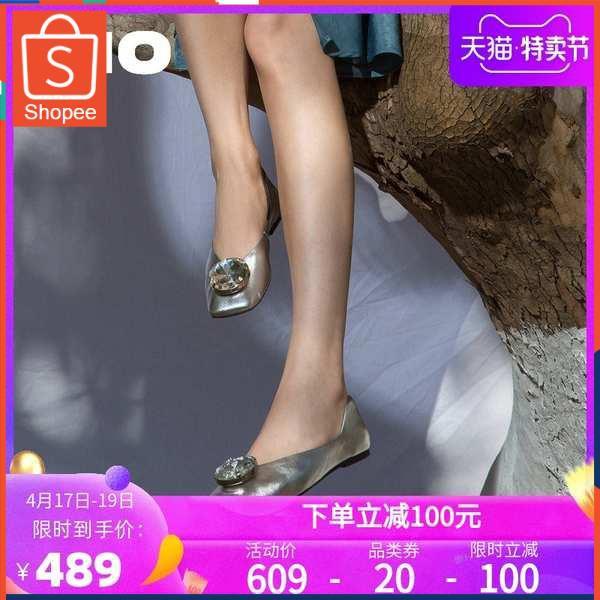 รองเท้าคัชชู ใส่สบาย สำหรับผู้หญิง รุ่นสีเรียบใส่ทำงาน MIO Mio รองเท้าผู้หญิง 2021 ฤดูใบไม้ผลิและฤดูร้อนใหม่สิทธิบัตรหนั