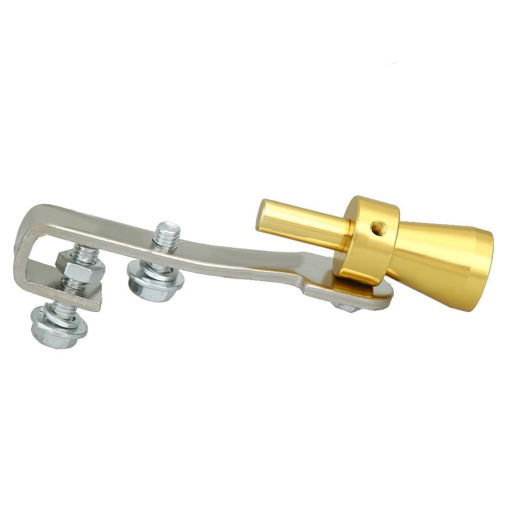 [IN STOCK/COD]Size S Gold Exhaust Fake Turbo Whistle Pipe Sound Muffler  Blow Off Valve