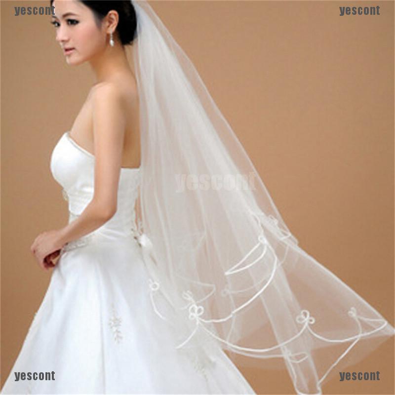 Lace Short Wedding Veil Ivory//White Bridal Veil Wedding Accessories Elbow Veils