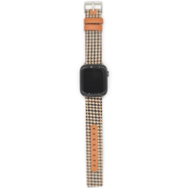 ลดราคา สายสำหรับ Applewatch สายนาฬิกา สายหนัง สายนาฬิกา 38mm 40mm 42mm 44mm series 1/2/3/4/5/6 SE