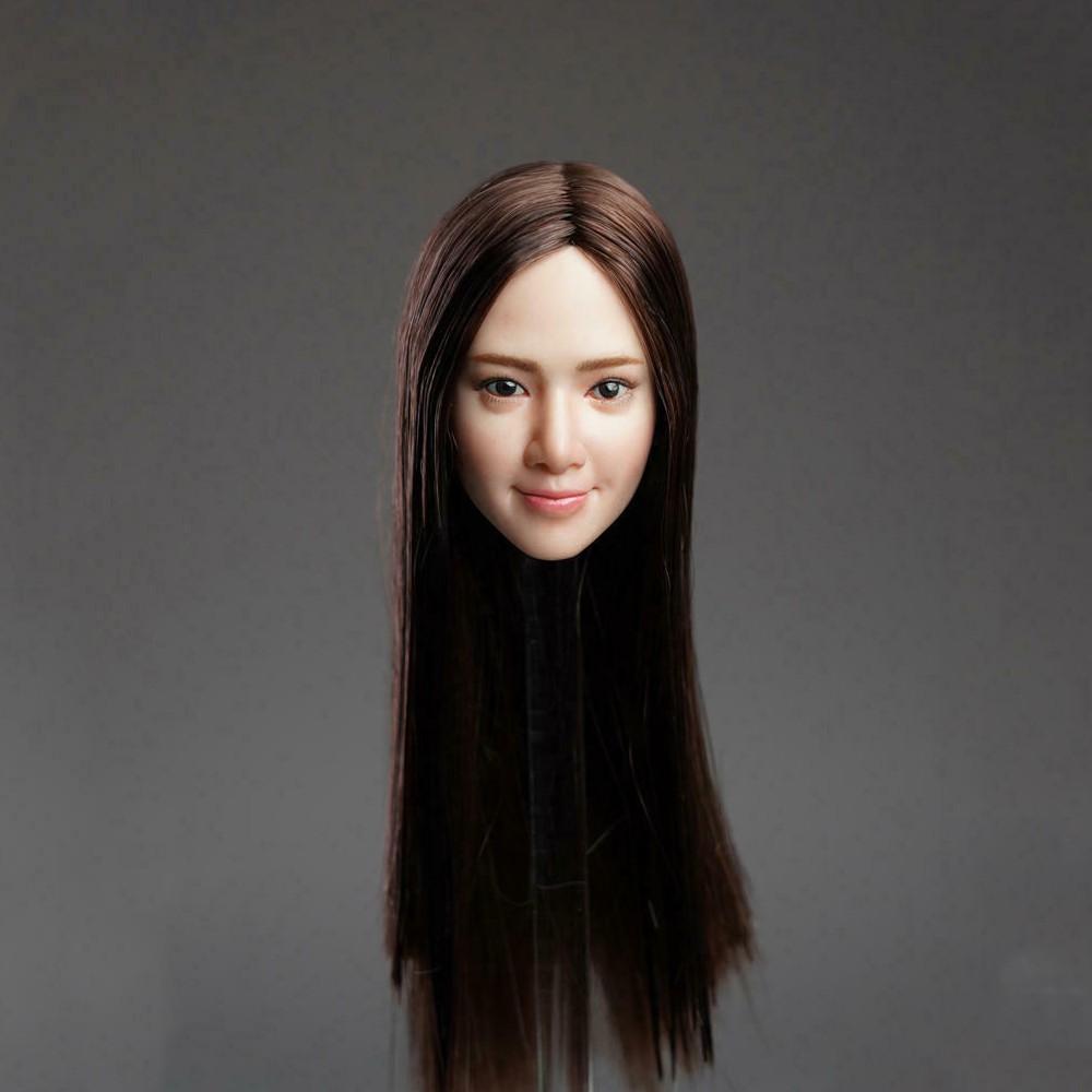 SUPER DUCK 1//6 White Hair Pale Head Sculpt Head Carving Fit 12/'/' PH Figure Model
