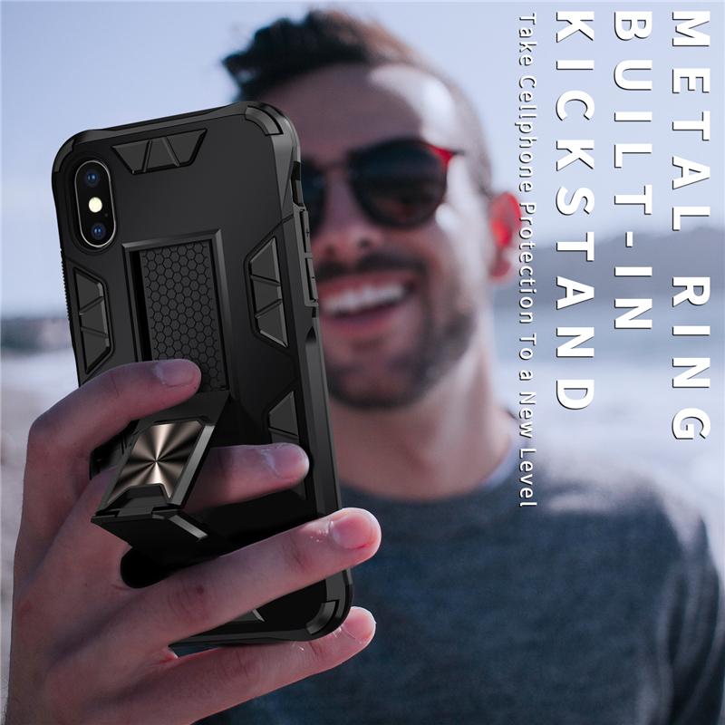 เคสโทรศัพท์มือถือแบบสองชั้นสําหรับ Iphone 11 12 Mini Pro Max X Xs Xr 6 6 S 7 8 Plus