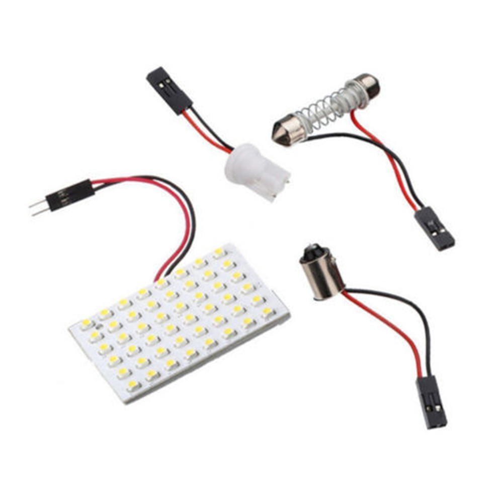 แผงไฟภายในรถยนต์ 48 SMD T 10 1210 12v 5 W LED